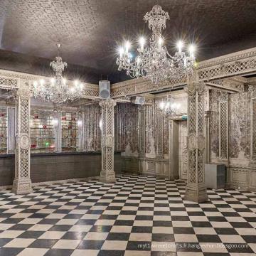 cristal de luxe personnalisé chandelier conduit lumière de lustre