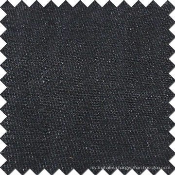 Black Cotton Viscose Polyester Spandex Fabric for Denim Jeans