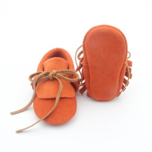 Mocassins Unisex do bebê do laço do bowknot do OEM