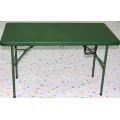Green Army Used Folding Table / 4FT Camping Furniture Mesa de piquenique Foldig na meia mesa ao ar livre para o exército