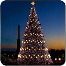 Arbre de Noël géant artificiel à LED d'extérieur