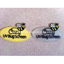 Petites étiquettes de logo de prix bas de correction de silicone / logo en caoutchouc / logo en relief en plastique
