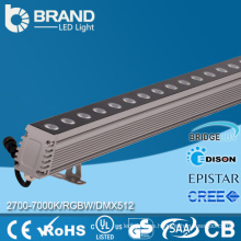 IP65 impermeable DMX512 control 24W 36W DMX pared lavadora LED de luz RBG LED pared arandela