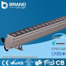 Profissional 36x1W RGB LED parede arruela 36W com controlador DMX512