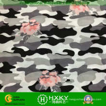 Flower Combined Camouflage Polyester Printed Chiffon Fabric