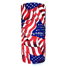 Bandera estadounidense EE.UU. protectora multiusos transpirable sin costura de cabeza de cuello de Buff Headwear