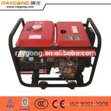 5кВт охлаженный воздухом портативный тепловозный комплект генератора открытого типа кадра