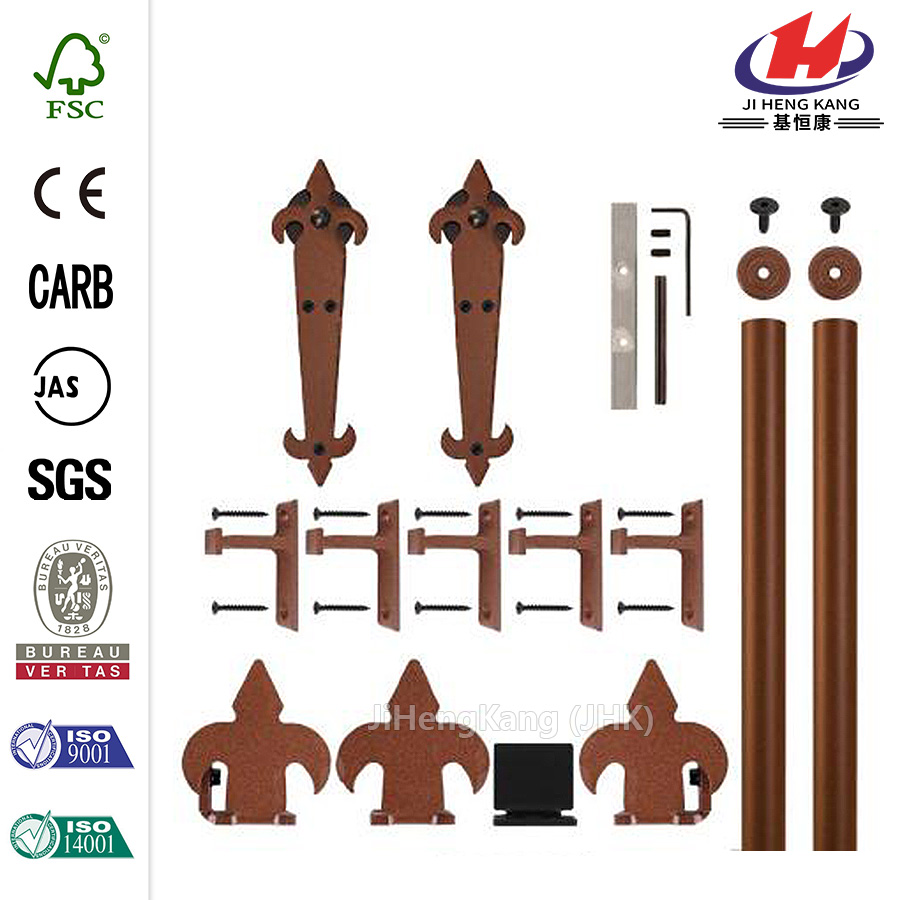 New Age Rust Rolling Door Hardware Kit