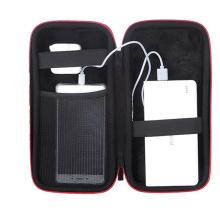 Poche de batterie externe double tirettes housse de transport ortable EVA Mobile cas de téléphone Banque de puissance sac de rangement