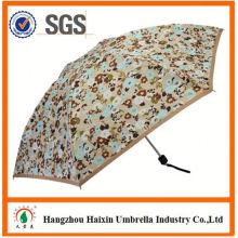 Neueste Design EVA Material 5 Falten Regenschirm mit Etui