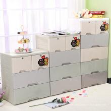 Fashion Plastic Storage Drawer Cabinet with Lock (FL-157)