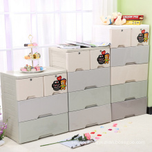 Fashion Plastic Storage Drawer Cabinet with Lock (FL-157)