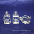 Hot-sale! Custom fashion transparent empty glass nail polish bottle with cap
