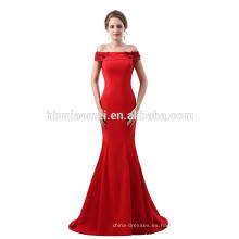 Vestido de noche del nuevo diseño del verano 2017 vea a través del vestido colorido de la cena de tarde de la gasa atada