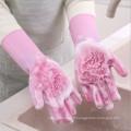 Gants de lavage ménagers Gants de nettoyage en silicone