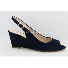 Conforto Médio Low Wedge Heel Women Fashion Sandals