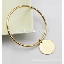 Braceletes de pulseira de ouro banhado a ouro 18k com pulseiras charme charme