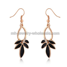 Swan danse forme Fashion Zinc Alloy Oil Ladies boucles d'oreilles