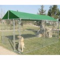 Garden and Backyard Outdoor Chain Link Boxed Dog Run