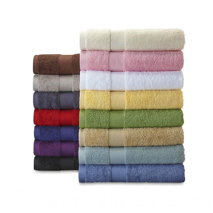 Thin White Cotton Bath Towels