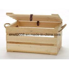 Caja pequeña con el labio y la manija de la cuerda