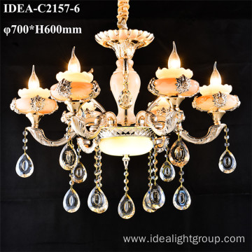 glass chandelier pendant lamp crystal candle light