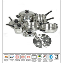 T304 Waterless Greaseless Stainless Steel Cookware Set