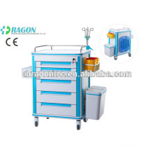 DW-FC001 Drug delivery cart medical trolley medication for emergency trolley for hot sale