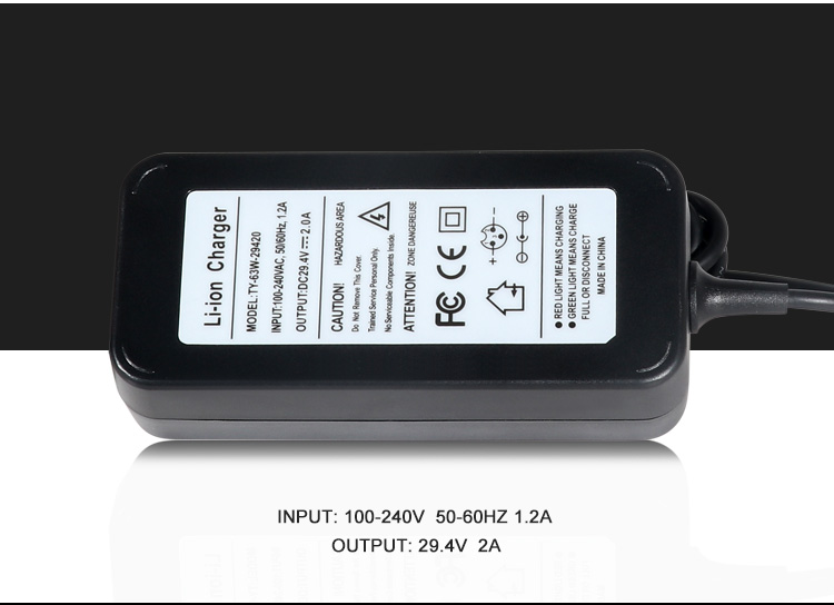 29.4V Li-ion Battery Charger