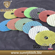 "3"" 4"" 5"" Magic Tape Resin Dry Diamond Flexible Polishing Pads"