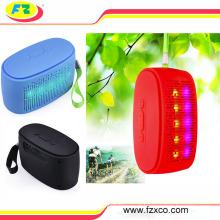 2016 venda quente vermelho azul verde branco portátil levou luz bluetooth speaker