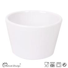 Tazón de fuente de cerámica del tazón de fuente blanco de 12oz
