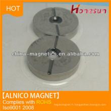 effectuer un cast des aimants alnico 5 anneau trou