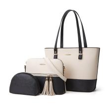 High Quality Wholesale Custom Logo 3 in 1 Set Crossbody Bag Popular PU Leather Ladies Tote Bags 2020 Women Shoulder Handbag Set