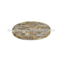 Круглый циновка чашки сбывания естественной раковины MOP сбывания