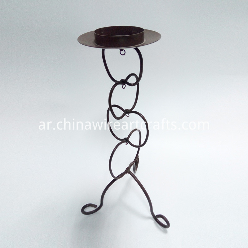 Metal Flower Candle Holder Stand