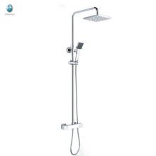 KWM-11 producto innovador ducha de cabeza cuadrada de plástico con tubo de ducha conjunto de mezclador de baño de ducha de baño de superficie sólida de cobre