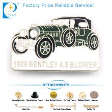 Blower Pin emblema em liga de zinco com forma de carro