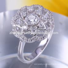 CZ joyería Cubic Zirconia anillo de bodas de compromiso de diseño para mujeres últimas joyas de plata de la manera