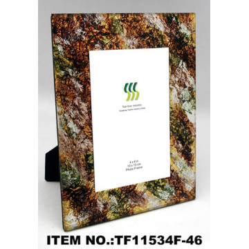 Beautiful High Quality Gold Foil Paper Glass Photo Frame