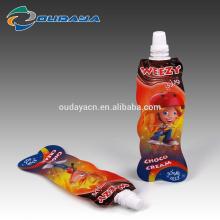 Lebensmittel- und Getränkepaket geformter Ausgusssaftbeutel