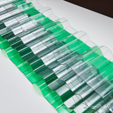 0.8Mm Polycarbonate Corrugated Sheet With Clear And Colored And 100% Virgin Bayer Material