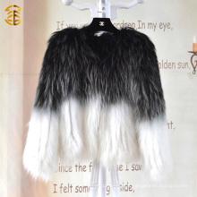 Femmes tricotées à la mode de style européen Femmes Manteau de fourrure de mouton véritable d'hiver