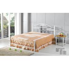 Weißes Mode-populäres Metall-Malerei-Bett (602 #)