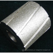 roda de tambor de moedura galvanizada diamante