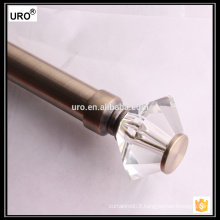 28mm crystal brass curtain rods for home