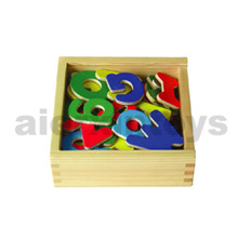 Wooden Magnetic Letters in Wooden Box (80080)