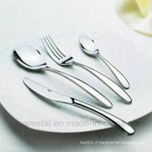 Haute classe 18/10 Hôtel Restaurant Acier inoxydable Vaisselle Vaisselle Couverts Couverts