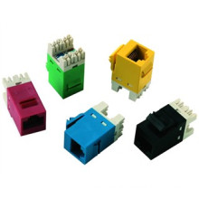 Telecommunication KJ-C5090-BL Cat 5e Keystone Jack Toolless Keystone Jack Network connector PCB JACK 8PIN