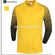 design personalizado a granel manga longa goleiro camisa jersey, manga longa camisa de futebol, equipamentos de guarda-redes